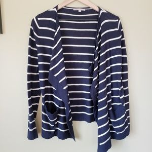 Gap   Long sleeve striped cardigan Sz S